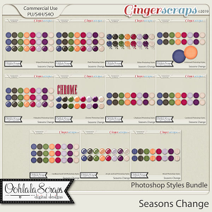 Seasons Change CU Photoshop Styles Bundle