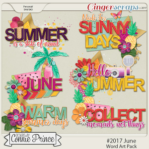 #2017 June - Word Art Pack