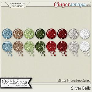 Silver Bells Glitter CU Photoshop Styles