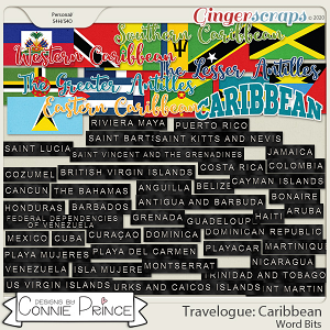 Travelogue Caribbean - Word Bits by Connie Prince
