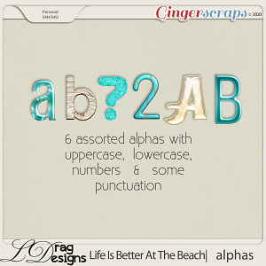 Life Is Better At The Beach: Alphas by LDragDesigns