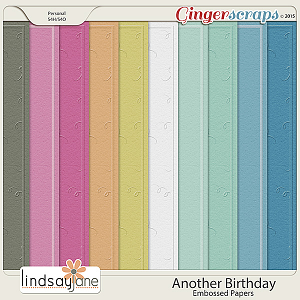 Another Birthday Embossed Papers by Lindsay Jane