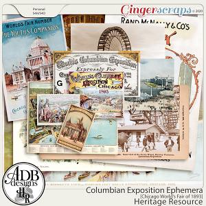 Heritage Resources - Columbian Exposition Ephemera by ADB Designs