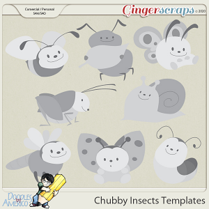 Doodles By Americo: Chubby Insects Templates