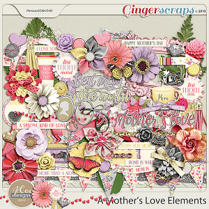 A Mother's Love Elements by JoCee Designs