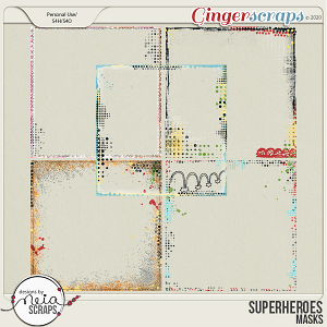 Superheroes - Overlays by Neia Scraps