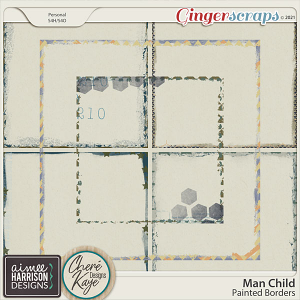 Man Child Painted Borders by Aimee Harrison and Chere Kaye Designs