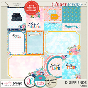 Digifriends - Cards - Collab by Neia Scraps + 3