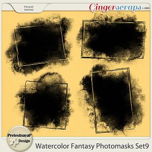 Watercolor fantasy Photomasks Set9