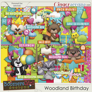 Woodland Birthday by BoomersGirl Designs