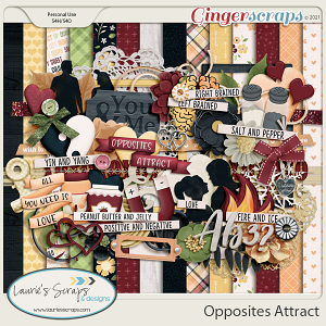 Opposites Attract Page Kit