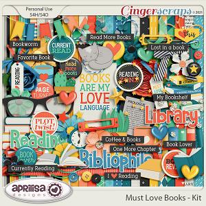 Must Love Books - Kit by Aprilisa Designs