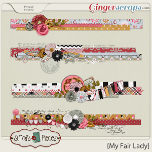 My Fair Lady Clusters by Scraps N Pieces