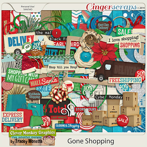 Gone Shopping by Clever Monkey Graphics