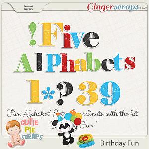 Birthday Fun-Alphabets