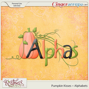Pumpkin Kisses Alphabets