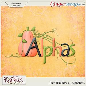 Pumpkin Kisses Alphabets