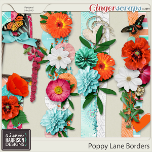 Poppy Lane Borders by Aimee Harrison