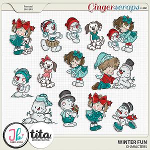 Winter Fun Characters by JB Studio and Tita