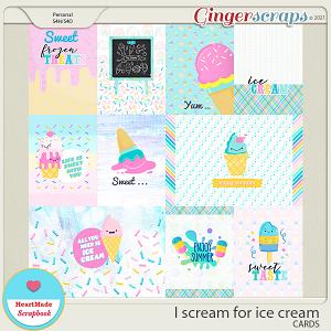 I scream for ice cream - cards