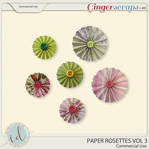 CU Paper Rosettes Vol 3 by Ilonka's Designs