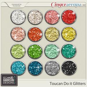 Toucan Do It Glitters by Aimee Harrison