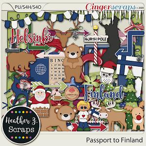 Passport to Finland ELEMENTS by Heather Z Scraps