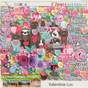 Valentine Luv by Clever Monkey Graphics