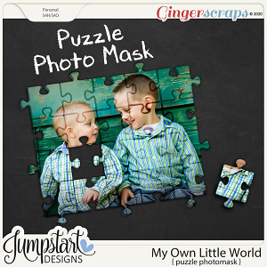 My Own Little World {Puzzle Photo Mask} by Jumpstart Designs
