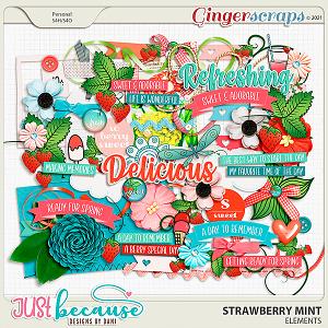 Strawberry Mint Elements by JB Studio