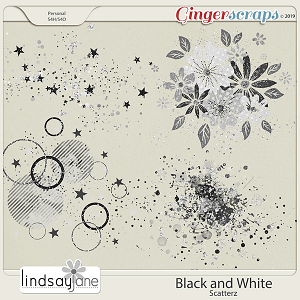 Black and White Scatterz by Lindsay Jane