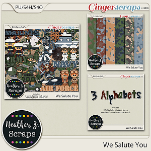 We Salute You BUNDLE by Heather Z Scraps