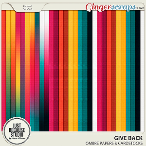 Give Back Ombré Papers & Cardstocks by JB Studio