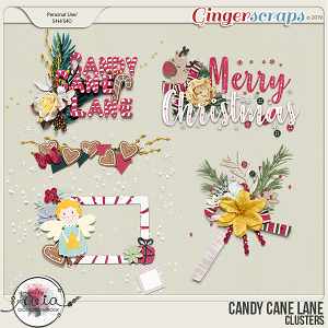 Candy Cane Lane - Clusters - by Neia Scraps