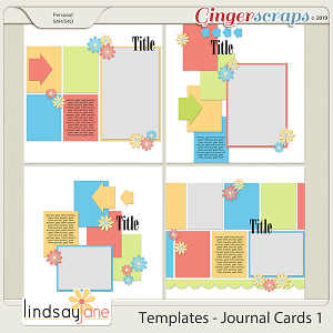 Templates - Journal Cards 1 by Lindsay Jane
