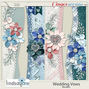 Wedding Vows Borders by Lindsay Jane