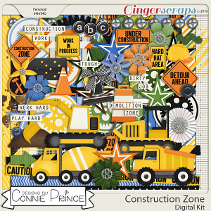 Construction Zone - Kit by Connie Prince