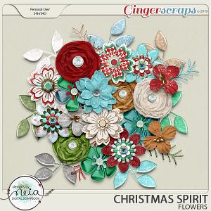Christmas Spirit - Flowers - by Neia Scraps
