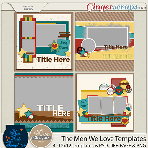 The Men We Love Templates by JoCee Designs and Miss Fish