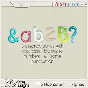 Flip Flop Zone: Alphas by LDragDesigns