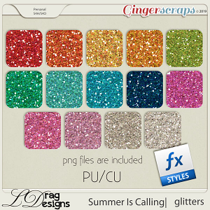 Summer Is Calling: Glitterstyles by LDragDesigns
