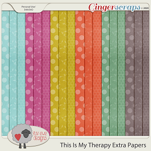 This Is My Therapy Extra Papers by Luv Ewe Designs