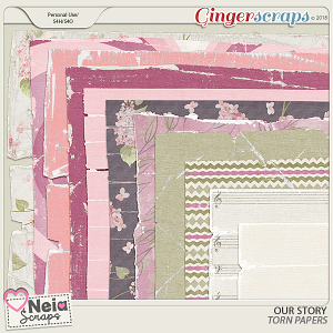 Our Story - Torn Papers - by Neia Scraps