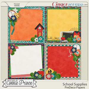 School Supplies - PreDeco Papers