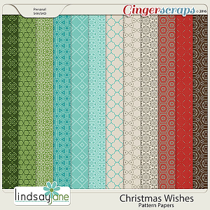 Christmas Wishes Pattern Papers by Lindsay Jane