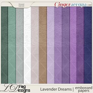 Lavender Dreams: Embossed Papers by LDragDesigns