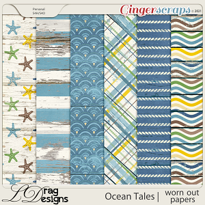 Ocean Tales: Worn Out Papers by LDragDesigns