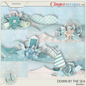 Down By The Sea Borders by Ilonka's Designs