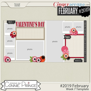 #2019 February - Week 7 Template Pack (CU Ok) by Connie Prince