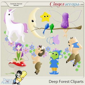 Doodles By Americo: Deep Forest Cliparts